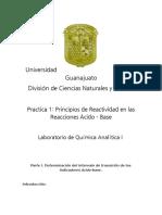 Reporte Practica 2. Principios de Reactividad en Las Reacciones Ácido-Base