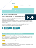 How to Recover Lost Data , Retrieve Deleted File From Android