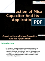 Construction of Mica Capacitor and Its Application