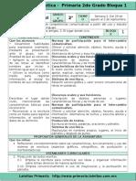 Plan 2do Grado - Bloque 1 Español (2016-2017)