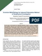 Inversion Methodology for Induced Polarization Method of Geophysical Investigation