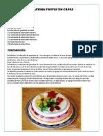 Gelatina Frutas en Capas