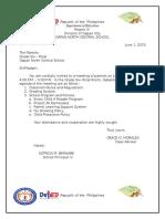 Sample Narrative Report (PTA Meetings)
