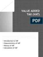 Value Added Tax (VAT)