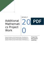 Additional Mathematics Project Work 2 2010