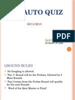 The Auto Quiz