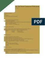 Sistematika Dan Ciri Surat Lamaran Pekerjaan