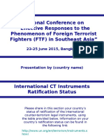 2015.06.23-25 UNODC TEMPLATE Country Presentations FTF