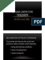 Magna Carta for Teachers