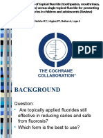 Fluoride using cochrane review literature