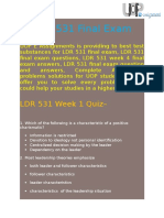 531/LDR Final Exam - Questions and Answers   UOP E Assignments