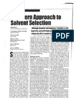 A Modern Approach to Solvent Selection - Mar-06
