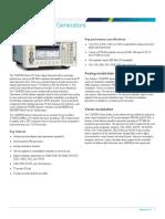 Tektronics Vector Signal Generators Datasheet 77W600431 (1)