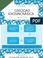 Toxicidad idiosincrásica