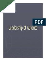 Leadership Et Autorite