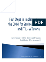 First Steps in Implementing the CMMI for Services Model and ITIL