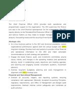 Position description-CFO
