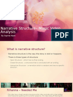 Narrative Structure - Music Video Analysis