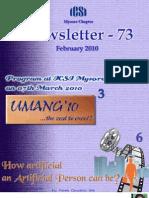 73 ICSI Mysore eNewsletter February 2010