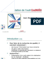 Présentation de l'outil Endnote