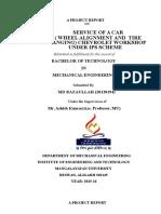 Chevrolete Automobile training project report