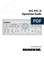 Mackie Big Knob Operation Guide