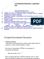 Chp 1 - Capital Investment Decisions Appraisal Methods