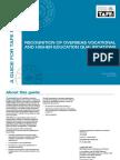 Oveseas Voc and Higher Ed Quals - Second Edition 2009