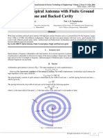 Archimedean Spiral Antenna with Finite Ground Plane and Backed Cavity