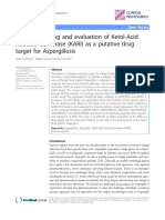 Virtual Screening and Evaluation of Ketol-Acid Reducto-Isomerase (KARI) as a Putative Drug Target for Aspergillosis.