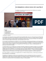 Más de Seis Millones de Trabajadores Cobran Menos de Lo Que Fija El Salario Mínimo Anual