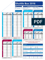 Shuttle Bus Timetable 2016