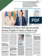 Testimone di Urbino e dell'arte nel mondo