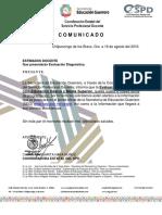 Comunicado Diagnostica 2016-2017
