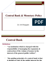 Central Bank & Monetary Policy - 1
