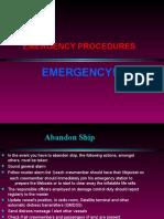 Emergency Procedures on ships