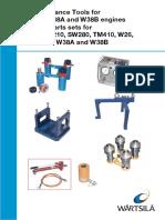 Tools for W26,W38 and Spare Parts Sets F240,R210,SW280,TM410,W26,W28SG,W38