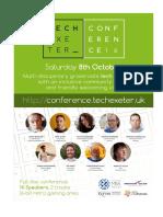 Tech Exeter Poster A3