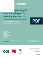 Executive Summary Setting Measuring and Monitoring Targets for Disaster Risk Reduct