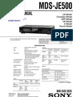 Sony MDS-JE500