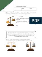 Ecuaciones de 1° grado sandra carvajal
