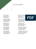 Poesie Tarkovskij in italiano