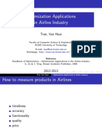 Optimization Airline Industry