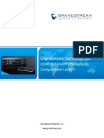 UCM Configure Eventlist BLF