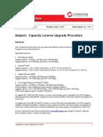Firmware and License Upgrade Procedure