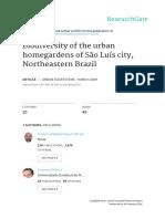 Biodiversity of the urban homegardens of São Luís city, Northeastern Brazil