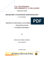 Somuah Oware Samuel Industrial Attachment Report