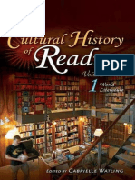 Cultural History of Reading