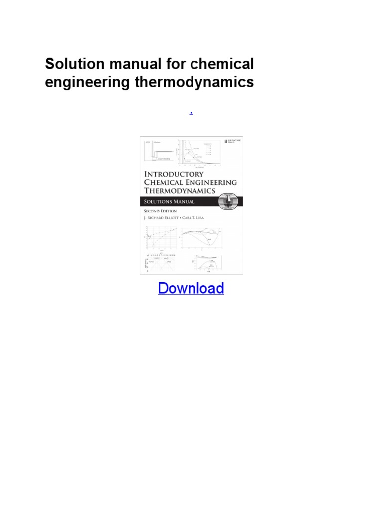 Solution manual for chemical engineering thermodynamics fandeluxe Choice Image
