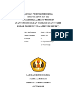 Analisis Kualitatif Protein (Xantoprotein) Dan Analisis Kuantitatif Kadar Protein Total (Metode Biuret)